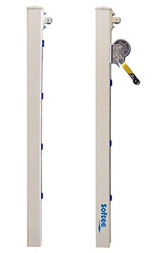 Softee – aluminium vaste palen tennisset vierkant 80 x 80 mm