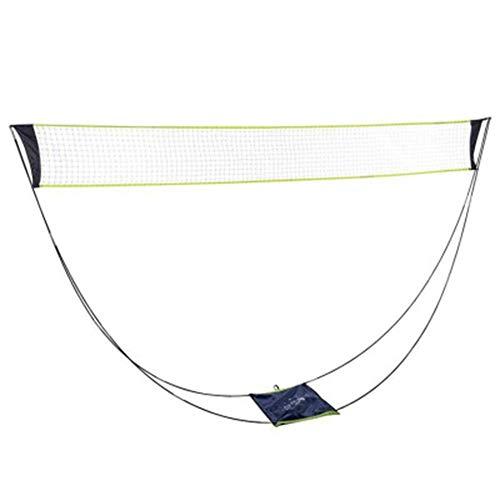 Ramoni Tragbare Badminton-Netz mit Ständer Tragetasche, faltbar Volleyball Tennis Badminton Net-Rack - Easy Setup für für Outdoor/Indoor Keine Werkzeuge oder Stakes Required