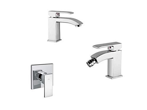 Paffoni Level tris miscelatori lavabo, bidet e doccia