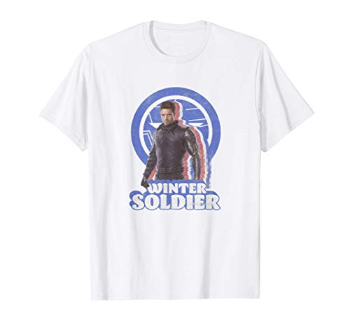 Marvel The Falcon And The Winter Soldier Bucky Retro T-Shirt