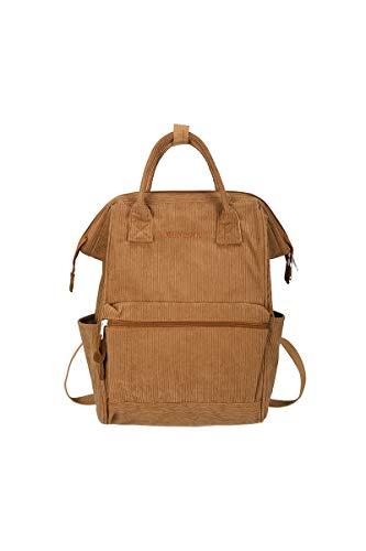 Ulisty Damen Cord Rucksack Beiläufig Tagesrucksack Mode Rucksack Schulranzen Schultertasche Handtasche braun