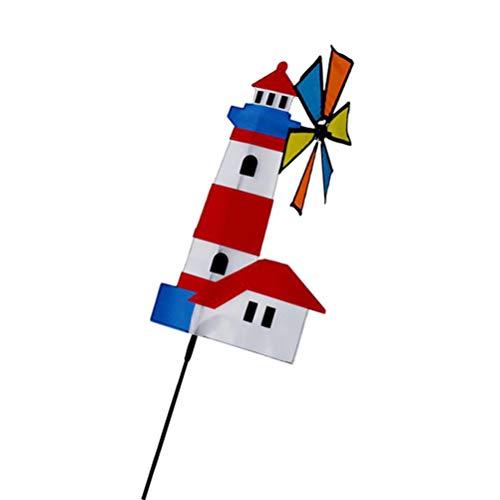 3D Kunststoff  DIY Windmühle Windrad Windspiel Kinderspielzeug für Kinder
