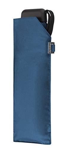 doppler Regenschirm Taschenschirm Mini Slim Carbonsteel sturmsicher bis 100km/h flach & leicht Ultra Blue