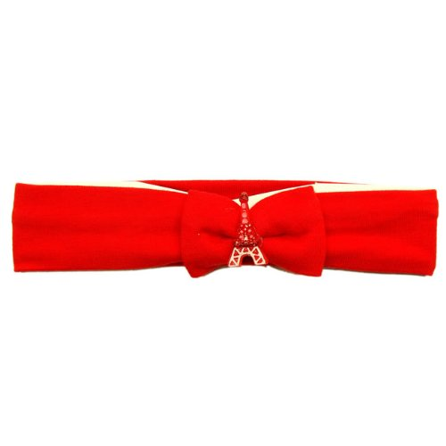 Souvenirs de France - Bandeau Cheveux Fille Paris - Rouge