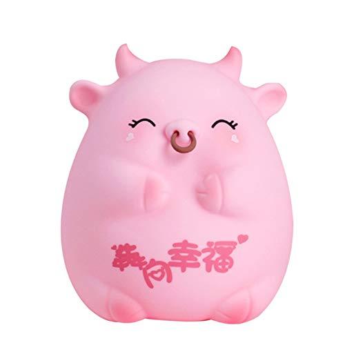 LAOLEE Caja de ahorro de dinero animal titular de la olla de la forma de la vaca de la historieta de la vaca de la historieta Ornamentos del