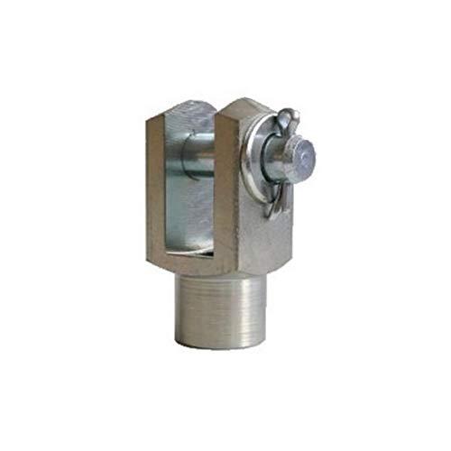 5 Stück - Gabelkopf - 10x20 - M10 mit Splintbolzen - DIN71752 - verzinkt
