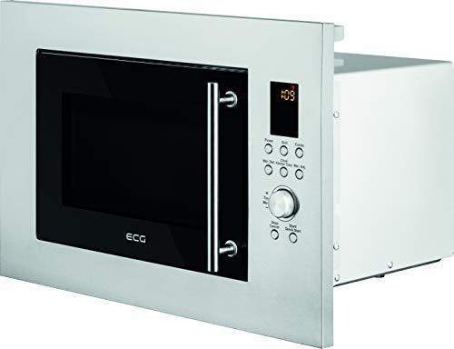 ECG MTD 2390 VGSS - Microondas (Integrado, Microondas con grill, 23 L, 900 W, Buttons, Giratorio, Acero inoxidable)