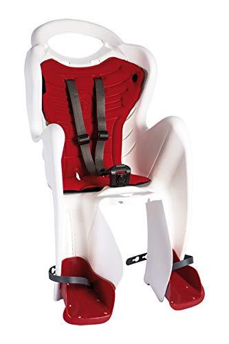 Bellelli Seggiolino Bici Posteriore MR Fox (Max 22 kg) White/Red