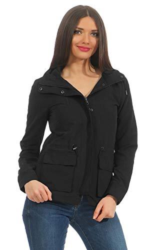 ONLY Damen onlSTARLIGHT Spring Parka CC OTW Jacke, Schwarz (Black), 36 (Herstellergröße: S)
