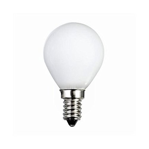 10 x G45 Golf Ball 40 Watt SES/E14 Small Edison Screw in Opal (White/Soft) Finish Double Life: 2,000 Hours by EVERBRIGHTPLUS