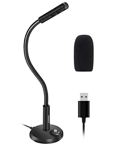 ELEGIANT USB Standmikrofon Mini Kondensator Mikrofon Mit Schalter für Windows 7/8/10 Mac und PC