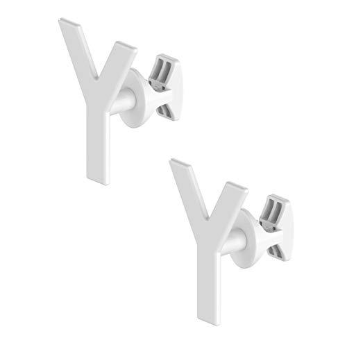 Paar Handy Minimal - Handtuchhalter für Badheizkörper, weiß - Sie können ihn direkt am Heizkörper befestigen - Yes