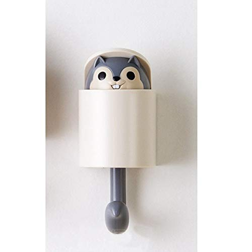 HUANGDANSEN Hooks Cute Squirrel Wall Key Hook Room Door Key Holder Wall Wardrobe Strong Sticky Hanging Clothes Rack Hooks Door