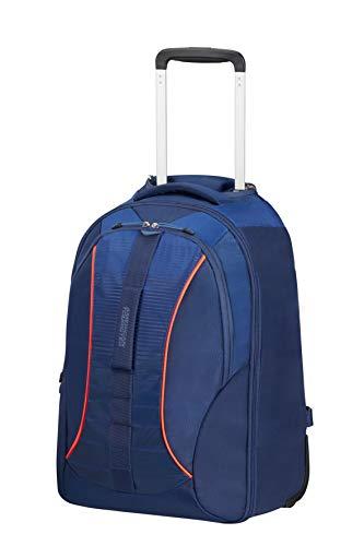 American Tourister Fast Route - 15.6 Pollici Zaino Porta PC con Ruote, 51 cm, 38.5 L, Blu (Dark Blue/Blue)