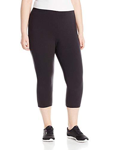 Just My Size Women's Plus-Size Stretch Jersey Capri, Black, 5X