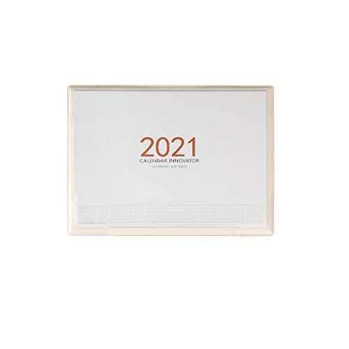 VVAN Calendario de sobremesa 2021 Calendario de Escritorio Creativa Multifuncional Alfombrilla de ratón con Bolsillo de Almacenamiento de Escritorio Diary Papel Grueso organización y planificac