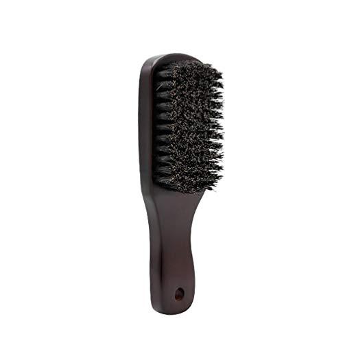Lurrose männliche Bartbürste Bartkamm aus Holz Naturborsten Bartbürste Reise Schnurrbartbürste Griff Rasierpinsel funktioniert mit Allen Bart