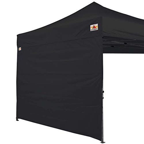 ABCCANOPY Instant Canopy SunWall (15+Colors) for 10x10 Feet, 10x20 Feet Straight Leg pop up Canopy, 1 Pack Sidewall Only, Black