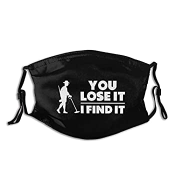 Treasure Hunter Metal Detector Unisex Adults Face Mask Washable Reusable Bandanas and Adjustable with Filter Pocket