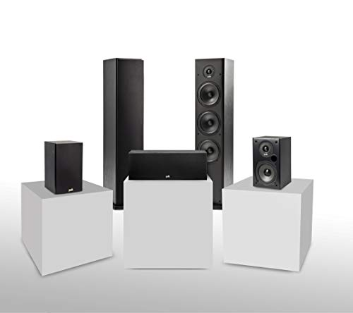 Polk Audio T Series 5 Channel Home Theater Bundle | Includes Two (2) T15...