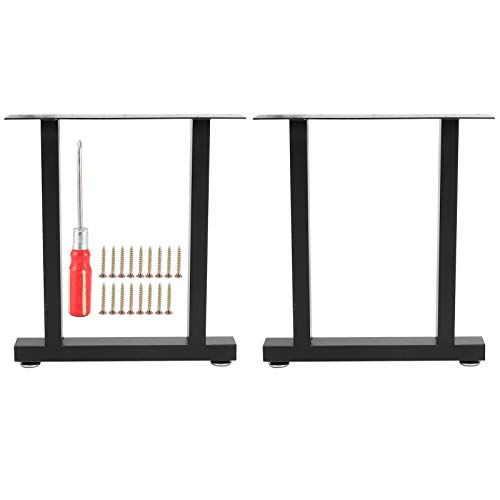 lyrlody- Set of 2 Table Runners Black Table Frame Iron Dining Table Desk Coffee Table Load of 800 Pounds (S)
