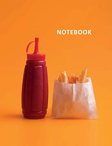 College Ruled Notebook: Best fast food items of all time Handy Student Composition Book Daily Journal Diary Notepad for cheat days on keto diet