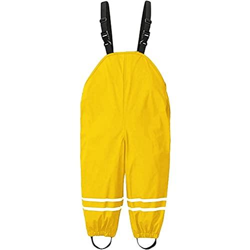 Hopowa Kinder Regenlatzhose Unisex Matschhose wasserdichte Atmungsaktiv Regenhose mit Hosenträgern für Outdoor Schlamm Einteilige Jumpsuit