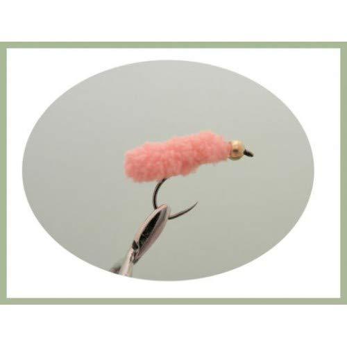 Wotsits Gr/ö/ße 8 Troutflies UK Lures Forellenfliegen Pink Angelfliegen 4 St/ück ohne Widerhaken