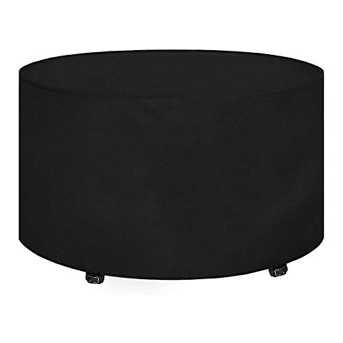 Circular Table Cover Patio Set Cover Outdoor Garden Furniture Cover 420d Oxford Polyester Table Chair Sofa Winter Covers Heavy Duty Waterproof Snow Table Chairs(Ø163x84cm)