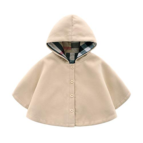 Odziezet Giacca del Mantella Cappotti Invernali da Neonata Vestiti Caldi Pesanti Bimba Beige 2-3 Anni