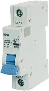 ASI NDB2-63C2-1 DIN Rail Mount Circuit Breaker, UL 1077 Supplemental Protection, 2 amp, 1 Pole, 240V, General Purpose Trip Curve C
