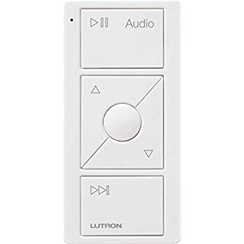 Lutron Audio Pico Remote for control of Sonos speakers, Sonos Endorsed Integration | PJ2-3BRL-GWH-A02 | White