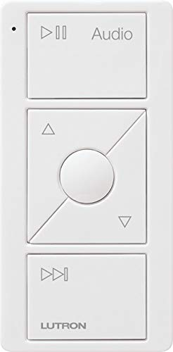 Lutron PJ2-3BRL-GWH-A02 Pico Remote Control for Audio, Sonos Endorsed Integration, White