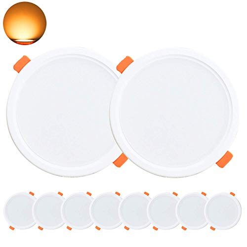 Kimjo Foco LED Empotrable 10W(equivalente 100W), Blanco Cálido 3000K 850lm Redondo Foco...
