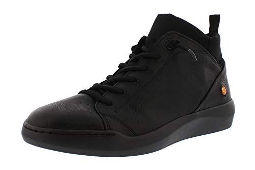 Softinos Damen Sneakers BIEL549SOF, Frauen High Top Sneaker,lose Einlage, Sneaker-Stiefelette sportschuh mid-Cut,Schwarz(Black),36 EU / 3.5 UK