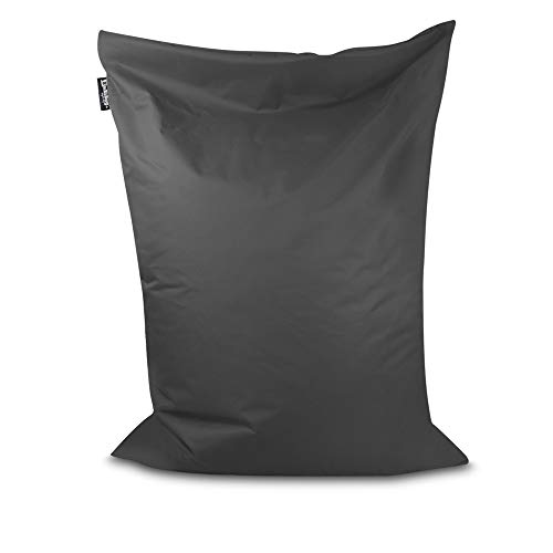 Sitzsack Beanbag rechteckige Bodenkissen 32 Farben & 4 Größen wählbar Indoor Outdoor Sitzsäcke Riesensitzsack Kindergarten Sitzkissen Schule Bean Bag ohne Rand (Anthrazit-170x150 cm)