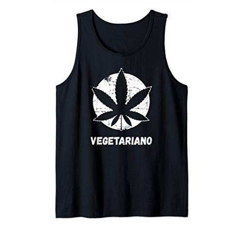 Divertido regalo marihuana - Hoja de cannabis y Vegetariano Camiseta sin Mangas