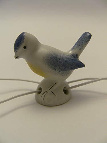 Lindner Porzellan Tropfenfänger Meise, handbemalt, für Kaffee- oder Teekannen, Tier Vogel Blaumeise