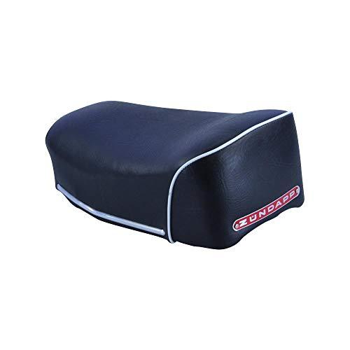 Zündapp Sitzbank kurz schwarz für GTS C KS Typ 517 Export Modell Schweiz mit rotem Emblem und weißer Kordel Einzelsitzbank