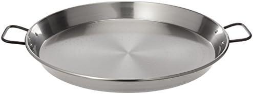 Garcima Poêle à paella en acier poli, gris, 45cm, 1 pièce