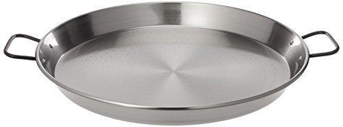 "La Paella 18"" Pata Negra Restaurant Grade Paella Pan, Large, Silver"