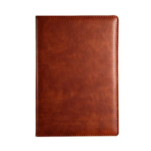 SHOTAY Cuaderno de Diario, A5 Cuero de PU Cuaderno de Diario Vintage Papel Forrado Planificador de Diario Bloc de Notas Papelería Oficina de Negocios Material Escolar Marrón