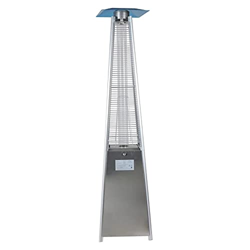 Ross James Stainless Steel 13KW Pyramid Gas Patio / Garden Heater including Cover