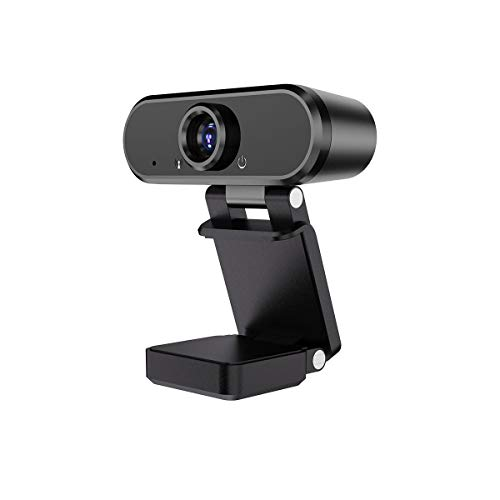 HD 1080P Webcam with Microphone Streaming Webcam, USB Computer Camera for Mac Xbox, YouTube, Skype, Drive-Free Plug and Play, 2 Million Pixels (Black)