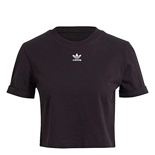adidas GN2802 Crop Top T-Shirt Donna Black 42