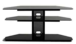 Transdeco Corner Tv Stand With 2 Av Shelves For 32 To 55 Inch Plasma Lcd Tv Tv Stands For Flat Screens