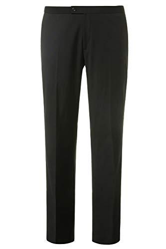 JP 1880 Herren große Größen bis 66, Smoking-Hose Amor, Business Mode, 4-Pocket, Seitenstreifen, Wolle & schwarz schwarz 32 709433 10-32