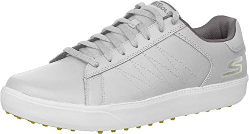 Skechers Men's Drive 4 Golf Shoe, Gray/Lime, 9.5 M US
