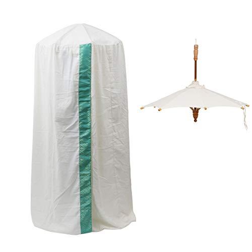 ハーブ蒸しテント2点セット( 傘+カバー) グリ...