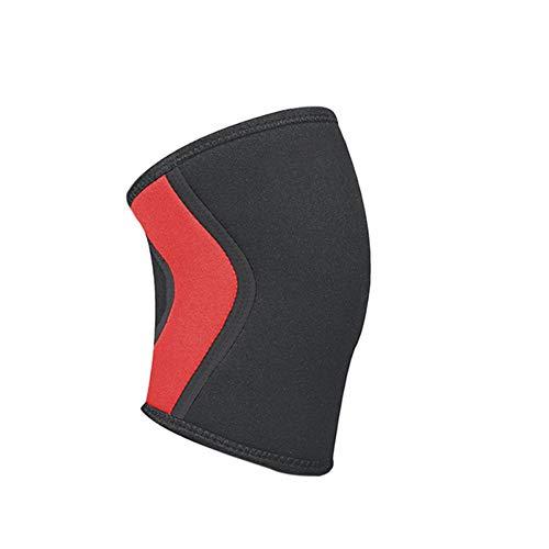 ZXH Knieverband, 7 mm Kniebeschermer Compressie Neopreen Gewichtheffen Kniebeschermers voor Fitness Gym Training Squats Sport Veiligheid-1 st